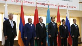 Совместное фотографирование глав делегаций, участвующих в заседании Евразийского межправительственного совета
