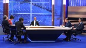 «Разговор с Дмитрием Медведевым». Интервью пяти телеканалам