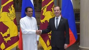 Встреча Дмитрия Медведева с Президентом Шри-Ланки Майтрипалой Сирисеной