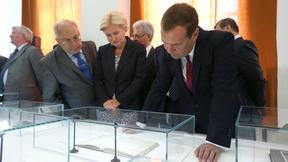 С ректором Московского государственного университета Виктором Садовничим и заместителем Председателя Правительства Ольгой Голодец