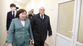 Осмотр строящейся общеобразовательной школы Кызыла на 825 мест