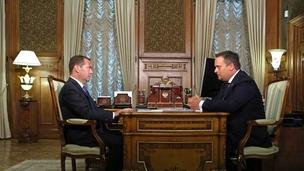 Встреча Дмитрия Медведева с губернатором Новгородской области Андреем Никитиным