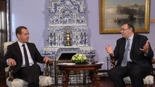 Встреча Дмитрия Медведева с президентом – генеральным директором компании «Тоталь» Патриком Пуйане