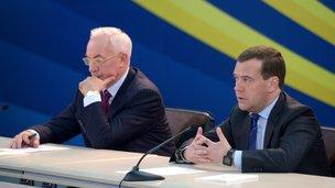 С Премьер-министром Украины Николаем Азаровым