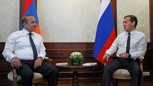 Беседа с Премьер-министром Армении Овиком Абраамяном