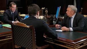 Встреча с президентом Российской академии наук Владимиром Фортовым и руководителем Федерального агентства научных организаций Михаилом Котюковым