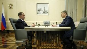 Встреча Дмитрия Медведева с генеральным директором ОАО «РЖД» Олегом Белозёровым