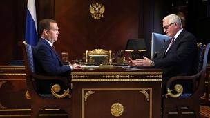 Встреча Дмитрия Медведева с президентом РСПП Александром Шохиным