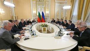 Встреча Дмитрия Медведева с Президентом Болгарии Руменом Радевым