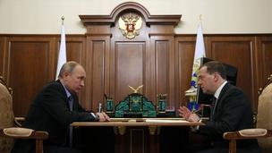 Встреча Президента России Владимира Путина с Председателем Правительства Дмитрием Медведевым