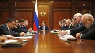 Встреча Дмитрия Медведева с членами бюро правления РСПП
