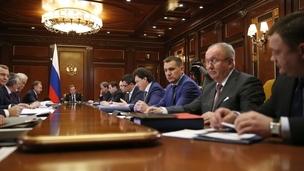 Заседание Наблюдательного совета Внешэкономбанка. Брифинг председателя Внешэкономбанка Сергея Горькова