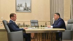 Встреча Дмитрия Медведева с губернатором Тверской области Игорем Руденей