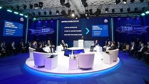 Mikhail Mishustin attends the Digital Future of the Global Economy international forum