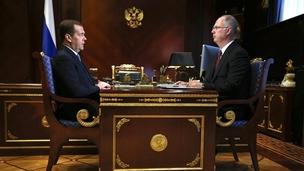 Встреча Дмитрия Медведева с генеральным директором Российского фонда прямых инвестиций Кириллом Дмитриевым, 19 апреля 2019 года