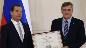 С мэром города Белгорода Сергеем Андреевичом Боженовым