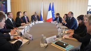Russia-France talks