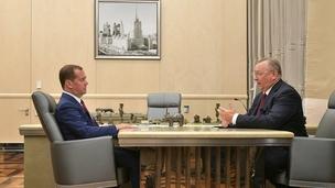 Встреча Дмитрия Медведева с председателем правления, президентом ПАО «Транснефть» Николаем Токаревым