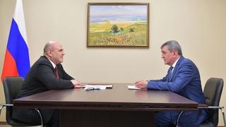 Беседа Михаила Мишустина с временно исполняющим обязанности Главы Республики Северная Осетия – Алания Сергеем Меняйло