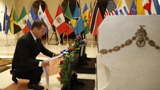 Возложение венка к Могиле неизвестного борца за независимость Кубы