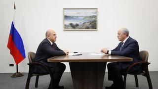 Беседа Михаила Мишустина с губернатором Саратовской области Валерием Радаевым