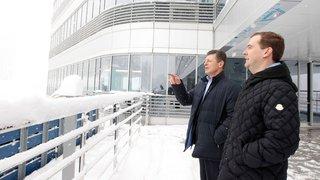 Председатель Правительства Дмитрий Медведев и заместитель Председателя Правительства Дмитрий Козак