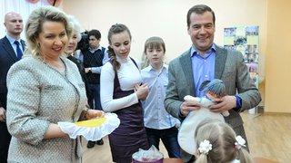 Посещение Дмитрием Медведевым и Светланой Медведевой Ивановского детского дома «Звёздный»