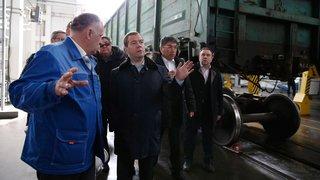 Осмотр вагоноремонтного депо Сибирской вагоноремонтной компании
