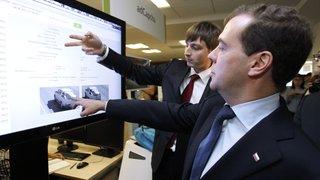 Председатель Правительства Дмитрий Медведев посетил казанский технопарк, где ему показали, как рождаются высокотехнологичные проекты, в том числе Иннополис – город-спутник Казани