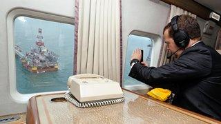 Осмотр морской ледостойкой стационарной платформы имени Ю.Корчагина ОАО «Лукойл»