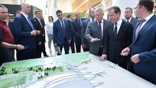 Осмотр здания международного аэропорта Платов в Ростове-на-Дону