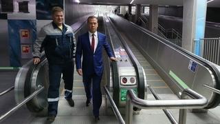Посещение станции метро «Новокрестовская»