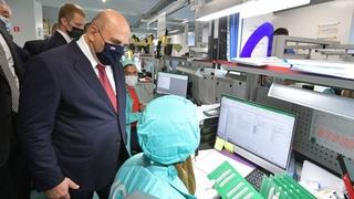 Михаил Мишустин посетил Промышленный технопарк «КСК» в Твери. Осмотр производства электронных плат