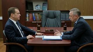 Встреча с временно исполняющим обязанности губернатора Санкт-Петербурга Александром Бегловым