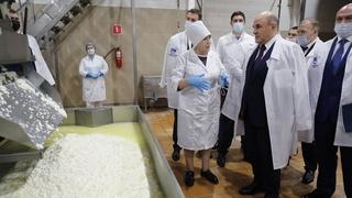Посещение молочного завода «Тамбовский», осмотр  цеха производства сыров