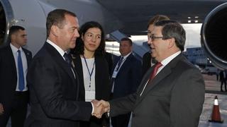 Официальный визит Дмитрия Медведева в Республику Куба. С Министром иностранных дел Кубы Бруно Родригесом Паррильей