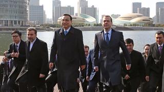 После заседания Совета глав правительств государств – членов ШОС и глав делегаций государств – наблюдателей в ШОС в Чжэнчжоу