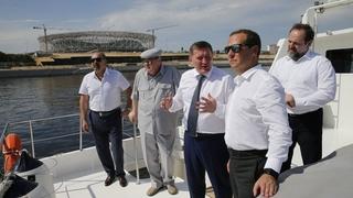 Омотр объектов водохозяйственной инфраструктуры Волгограда