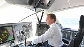 Церемония открытия регулярного движения скоростного морского пассажирского судна на подводных крыльях «Комета 120М»