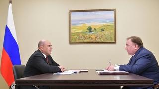 Беседа  Михаила Мишустина с Главой Республики Ингушетия Махмудом-Али  Калиматовым