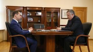 Встреча с губернатором Ленинградской области Александром Дрозденко