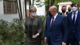 Михаил Мишустин посетил гимназию имени А.С.Пушкина в Нижнем Новгороде