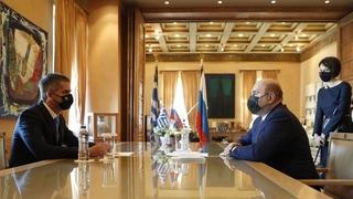 Беседа с мэром города Афины Константиносом Бакояннисом