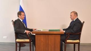 Встреча с временно исполняющим обязанности главы Республики Адыгея Муратом Кумпиловым