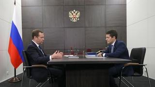 Встреча с губернатором Ямало-Ненецкого автономного округа Дмитрием Артюховым