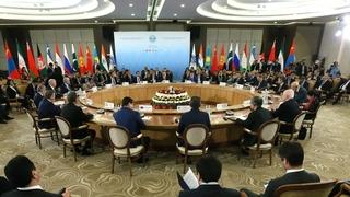 Заседание Совета глав правительств государств-членов ШОС в широком составе