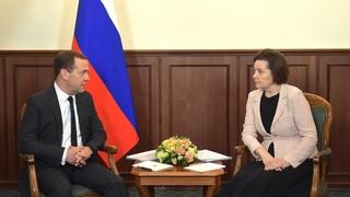 Встреча с губернатором Ханты-Мансийского автономного округа – Югры Натальей Комаровой