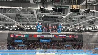 Финальный матч по хоккею с шайбой между студенческими сборными России и Словакии