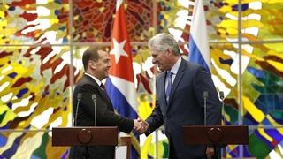 Заявления Мигеля Диас-Канеля Бермудеса и Дмитрия Медведева для прессы по завершении российско-кубинских переговоров
