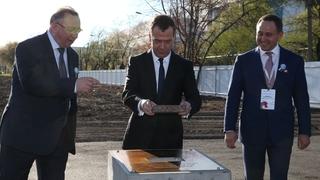 Церемония закладки первого камня в основание завода по производству высоковольтных электродвигателей АО «Русские электрические двигатели»